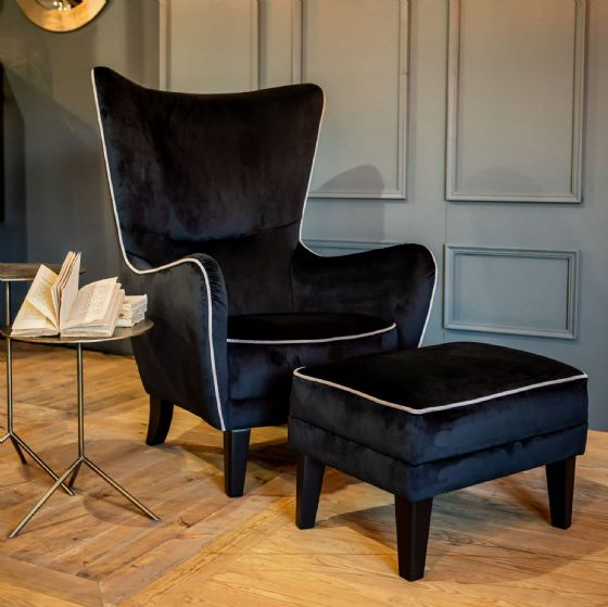 Soto Velvet Fireside Chair - 12 Bespoke Colours